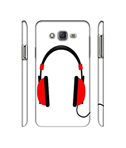 NattyCase Headphone 3D Printed Hard Back Case Cover for Samsung Galaxy J5
