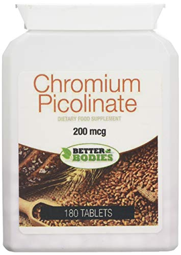 Better Bodies 200 MG Chrom Pikolinat - Pack 180 Tabletten