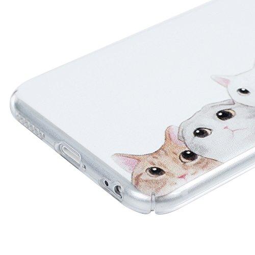 iPhone 6 Case, iPhone 6s Hülle, Lanveni Gemalt PC Kunststoff Harte Rückseite Transparent Handyhülle Lightweight Tasche Schutzhüllen Shell Hülle Abdeckung für iPhone 6/6s Smartphone Süße Katze KATZE