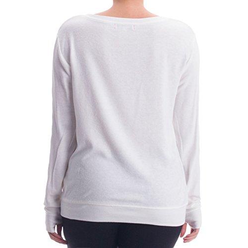 PLW - Pull de sport - Uni - Manches Longues - Femme Blanc - blanc