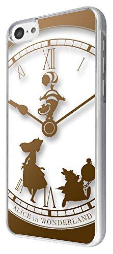 459-vintage Horloge ALICE AU PAYS DES MERVEILLES Design pour tous les 11,9cm iPhone 6/iPhone 6Plus 14cm/iPhone 4/4S/iPhone 5/5S/iPhone 5C Étui Fashion Trend Coque arrière en plastique et métal–choisissez votre modèle de téléphone dans le menu déroulant, plastique, iPhone 5C