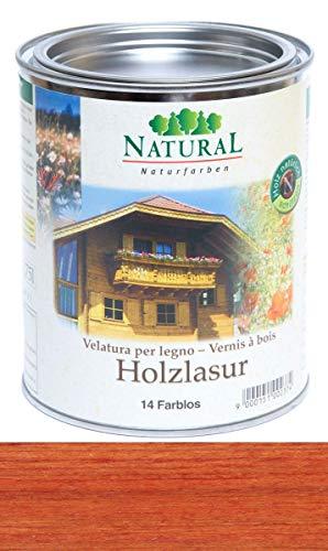 APIFORMES Natural Farben - Holzlasur 0,75 l - Vulkanrot | Holzanstrich | Beutenanstrich |