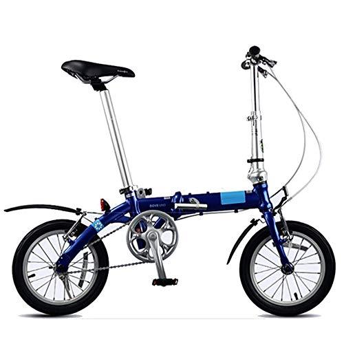 WuZhong F Faltrad Ultraleicht Männer und Frauen Mini tragbare kleine Rad Fahrrad 14 Zoll