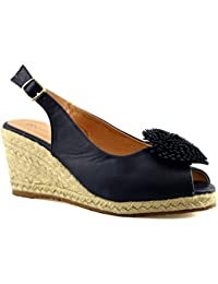 516f2b70e Cipriata Ladies Womens Buckle Espadrilles Mid Wedge Heel Peep Toe Sandals  Shoes Size 3-8