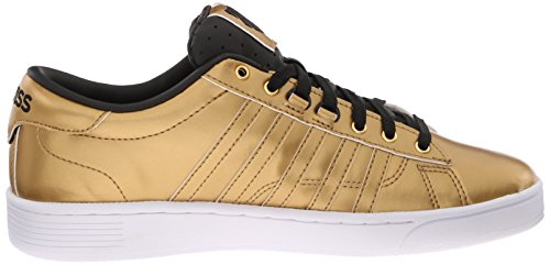 K-Swiss Hoke Metallic Cmf S, Baskets Basses femme Or - Gold (GLD/BLK/WHT 717)
