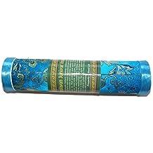 De bután Turquesa Del himalaya Enebro Incienso - Genuino Comercio Justo Enrolladas a Mano Incienso Dhoop en preciosa caja cilíndrica - contiene aprox. 21 varillas, cada varilla mide aprox. 20 cm largo