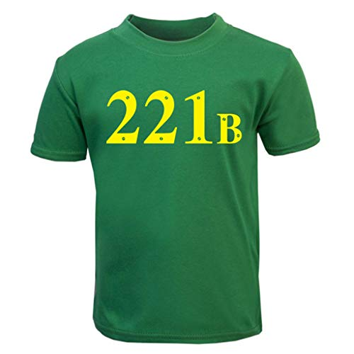 221B Baker Street Sherlock Holmes Address Baby and Toddler Short Sleeve ()