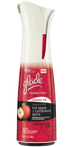 Glade Expressions Starter Kit - One Refillable Holder & One Refill - Fuji Apple & Cardamom Spice - Net Wt. 7 OZ (198 g) Each - Kits by Glade - Fuji Starter Kit