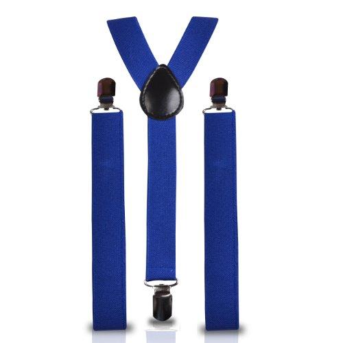 Shukan Fashions - Bretelles - Homme Bleu Bleu marine