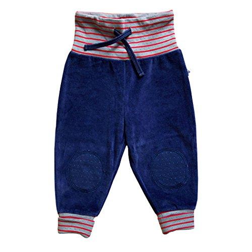 Baby Kinder Hose Nickyhose Bio-Baumwolle 8 Farben Wählbar GOTS Nicki Strampelhose Jungen Mädchen Gr. 50/56 bis104 (62/68, dunkelblau)