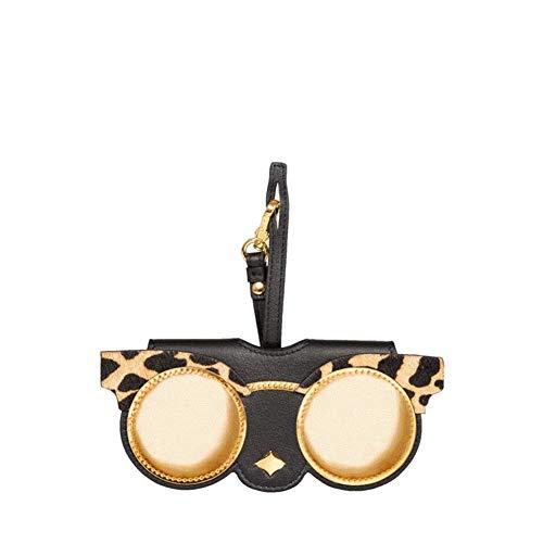 OOFAY Damen Sonnenbrillenetui, niedliche Leder Brillenetui mit Karabinerhaken Tragbare Sonnenbrillen Beutel Schlüsselbund Charm Dekoration Anhänger Geschenk Zubehör,C
