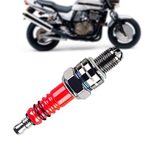 Vaycally Candela per Moto ad Alte Prestazioni Adatto per la Maggior Parte degli Scooter GY6125 Diametro del Filo: 10 mm, Lunghezza del Filo 12,7 mm, 4,2% -5,8 Superiore Rispetto alla Tradizionale