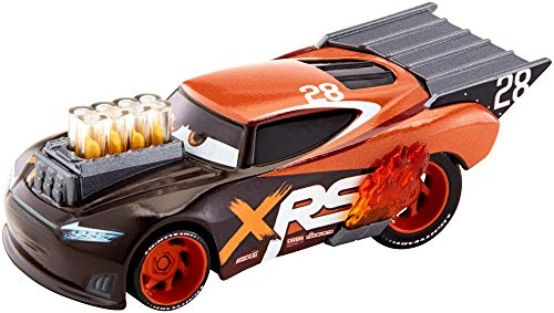 Disney Cars GFV37 - Xtreme Racing Serie Dragster-Rennen Die-Cast Nitroade (Toy Racing Car)