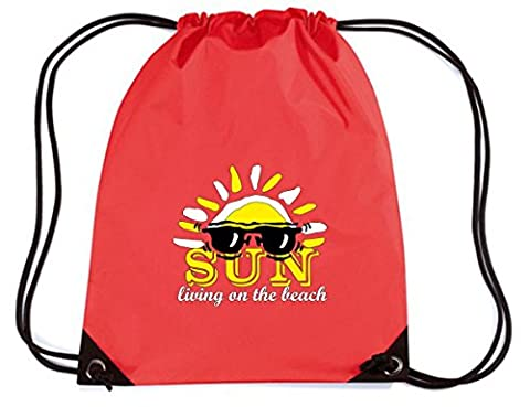 Cotton Island - Sac ? Dos Budget Gymsac T0312 sun living on the beach vintage, Taille Capacité de 11 litres.