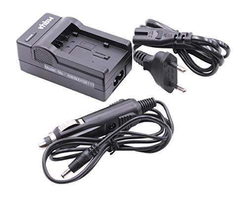 LADEGERÄT LADEKABEL NETZTEIL inkl. KFZ-LADER für Panasonic HC-V510, HC-V520, HC-V707, HC-V727 etc. ersetzt Original Akkus VW-VBT190, VW-VBT380 u.a.