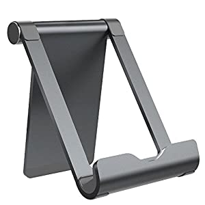 TECBOSS Tablette Stand, Universal Phone Stand Faltbare Aluminium Stand Smartphone Halter für iPad iPhone Samsung E…