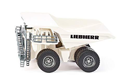 SIKU 1807, Liebherr T 264 Muldenkipper, 1:87, Metall/Kunststoff, Kippbare Mulde, Weiß
