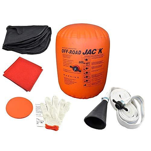 Vogvigo Cric Gonflable de Voiture 4 tonnes Cric d'échappement et Pompe à Double Usage, Cric de Levage de Pneu Cric de Chariot Kit d'outils de réparation