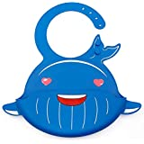 Leegoal Waterproof Silicone Baby Bibs, Adjustable Soft Feeding Bibs With Wide Food Crumb Catcher Pocket, Easily Wipes Clean Comfortable Soft Baby Bibs Keep Stains Off For Infants & Toddlers - B07L6G9ZLG