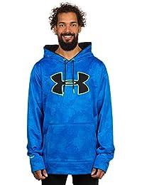 Under Armour AF Big Logo Pattern - Sudadera con capucha para hombre, color azul (elb/blk/hvy), talla X-Large