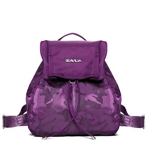 Donne borsa a tracolla doppia/Con coulisse zaino in nylon Oxford/ Ms pulita minimalista tela-C C