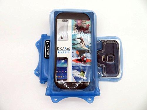 Gionee Ctrl V1/V3/V4/V5, Dream D1, Gpad G2 Handyhülle / Handytasche - wasserdicht - Blau (Doppel-Klettverschluss, IPX8-Zertifizierung zum Schutz vor Wasser bis 10 m Tiefe, integriertes Luftkissen treibt auf dem Wasser & schützt das Gerät; extraklare Polycarbonat-Fotolinse; inkl. Trageriemen)