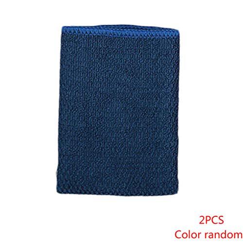 Topker 2ST Zufällige Color Home Housekeeping Mikrofaser-Reinigungstuch Küche Waschen Poliertuch Oil Free Wipes Handtuch