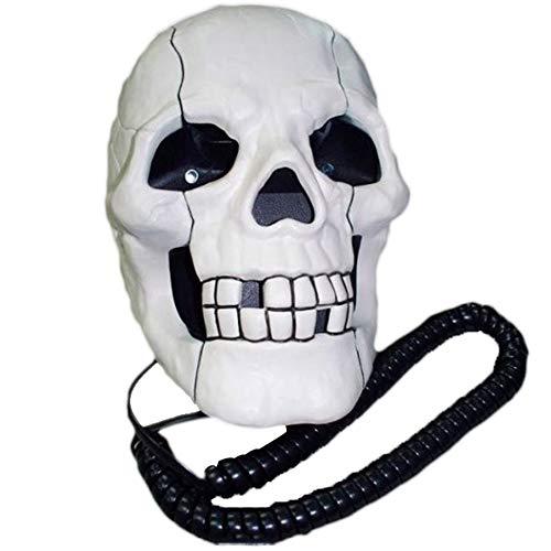 Totenkopf Telefon Halloween Ghost Festival Mode kreativ süß lustig Geist Telefon Kabel-Telefon Festnetz (Halloween Geist Kontakt)