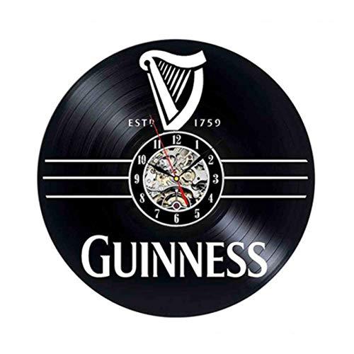 Ioxlks Wanduhr Aus Vinyl Schallplatte 3D Wanduhr Modernes Design Whisky Bier Design Mode Bar Dekoration Vintage CD Uhren Wanduhr Wohnkultur 30 cm LO0178