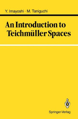 An Introduction to Teichmüller Spaces par Yoichi Imayoshi