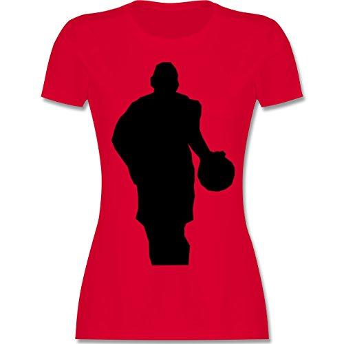 Basketball - Basketball - tailliertes Premium T-Shirt mit Rundhalsausschnitt für Damen Rot