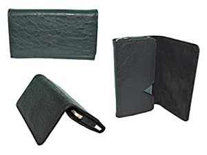 Generic Premium Leather Fabric Wallet Pouch for - Samsung Galaxy G880 Alpha - BLACK - WTPBK50#1479DR