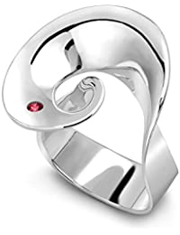 Georg Jensen Women's Silver and Ruby Möbius Continuity Ring