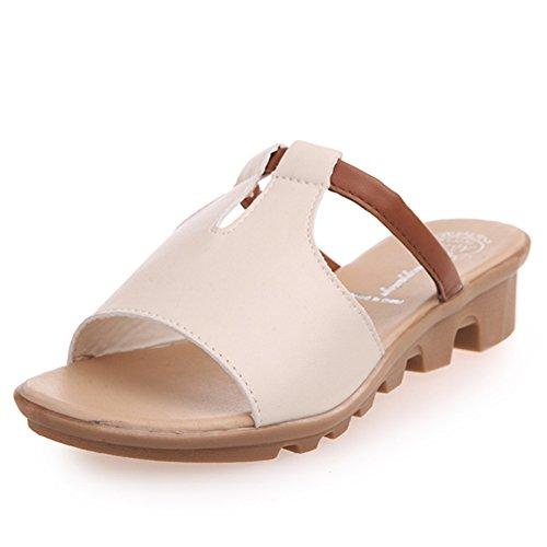 estate moda Lady di pantofole/Fondo piatto antiscivolo studente scarpe casual/wild women Sandals E