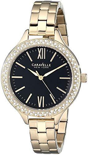 Caravelle New York 44L126 - Reloj de Pulsera para Mujer, Color Dorado