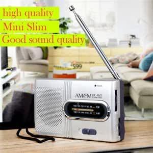 New Mini Pocket AM//FM Telescopic Antenna Battery Powered Radio Receiver Portable