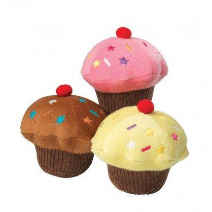House Of Paws Hundespielzeug, Cupcake aus Plüsch, mit Vanillearoma, Gelb
