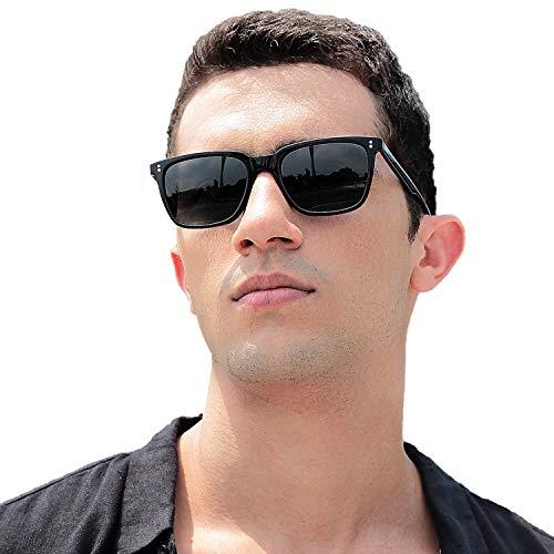 Carfia Retro Herren Sonnenbrille Acetat Rahmen Polarisierte Sonnenbrille für Fahren Golf Outdoor Freizeit, 100% UV 400 Schutz