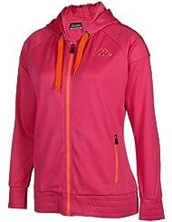 Kappa Loretta Hooded Zip Sweatjacke Interlockinside Brushed 240gsm - Sudadera de náutica para mujer, color rosa, talla L