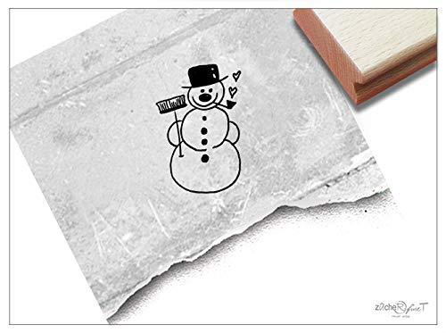 Stempel Weihnachtsstempel SCHNEEMANN - Bildstempel Weihnachten Winter Karten Geschenkanhänger Weihnachtsdeko Geschenk für Kinder - zAcheR-fineT (Dinge Zu Tun, Journal)