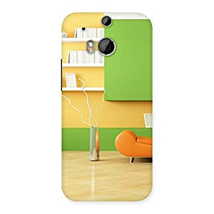 Cute Pleasant Home Multicolor Back Case Cover for HTC One M8