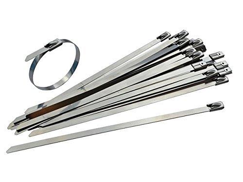 Gocableties - Lote de 25 bridas de acero inoxidable de alta calidad,...