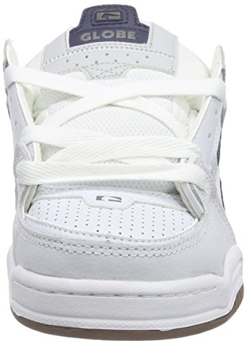 Globe - Fusion, Scarpe da skateboard Unisex – Adulto Bianco (Weiß (white/navy/grey))