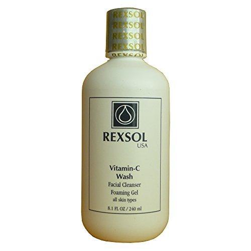 REXSOL Vitamin-C-Wäsche Gesichtsreiniger Schäumende Gel | Mit Vitamin C, Vitamin A & Vitamin E |...