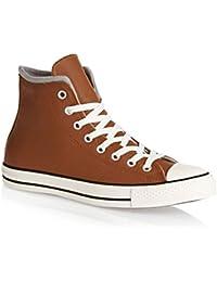converse cuir marron