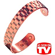 Men's Heavyweight Pure Copper Magnetic Therapy Bracelet. Earth Therapy Magnet Jewellery