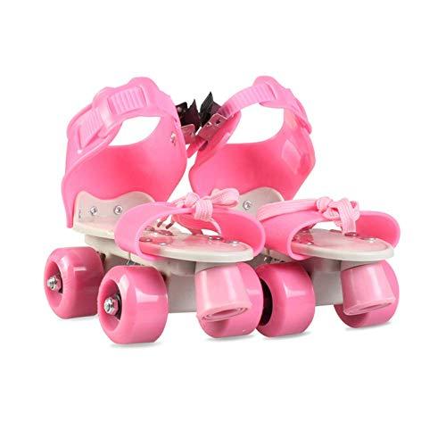 LWPCP Inline-Rollschuhe verstellbare Zweireihige Schlittschuhe Kinder 4 Rad Anfänger Kinder Jungen Mädchen Innen- und Außenrollschuhe Kleinkinder Geburtstagsgeschenk (26-36),5