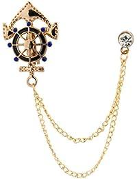 Knighthood Anchor Rudder Ships Wheel Nautical Lapel Pin/Brooch For Men
