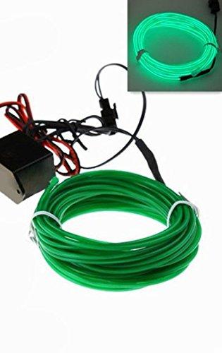 1x GRÜN (2 Meter) Innenraum AMBIENTEBELEUCHTUNG 12V Inverter/Adapter Lichtleisten Strip Band Licht Ambiente Beleuchtung Eine hochwertige und edle Optik - hallenwerk
