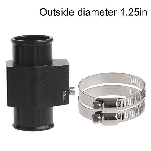 Fansport Wasser Temp Adapter Temperatur Sensor Adapter Aluminium Drei Wege Temperatur Messa Dapter mit 2 Klemmen